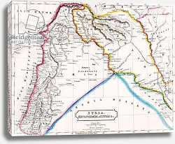 Постер Школа: Английская 19в. Map of Syria, Mesopotamia, Assyria &c., from 'The Atlas of Ancient Geography', c.1829