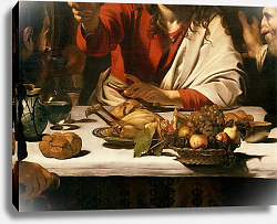 Постер Караваджо (Caravaggio) The Supper at Emmaus, 1601 5