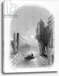 Постер Каттермол Джордж (грав) Moonlit scene in Venice, engraved by Robert Brandard, 1846