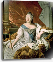 Постер Школа: Русская 18в. Portrait of Elizabeth Petrovna Empress of Russia, c.1750