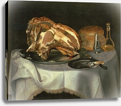 Постер Смит Дж. Честер Still Life with Joint of Beef on a Pewter Dish, c.1750-60