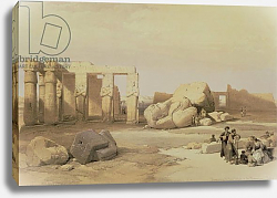Постер Робертс Давид Fragments of the Great Colossus, at the Memnonium, Thebes, 1937 BC