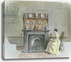 Постер Килбурн Джордж Lady Seated by Fireplace