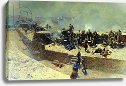 Постер Роубаннд Франц The Alexander battery attacking the English-French fleet on October 5th 1854, 1905