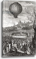 Постер Школа: Французская The First Aerial Voyage, Paris, 21st October 1783