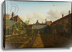Постер ЛаФарг Пауль View of a town house garden in The Hague, 1775