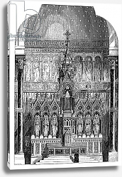 Постер Школа: Ирландская 19в. High Altar of St Alphonsus Liguori, Limerick, Ireland, illustration from 'The Builder', 1865