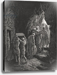 Постер Доре Гюстав The Burial of Sarah, illustration from Dore's 'The Holy Bible', engraved by Pisan, 1866