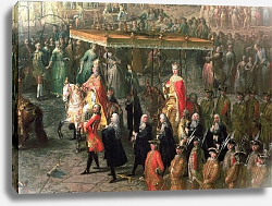 Постер Мейтенс Мартин The coronation procession of Joseph II Emperor of Germany, in Romerberg, 1764
