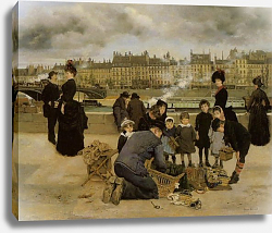Постер Беро Жан Children With a Toy Seller on the quai du Louvre