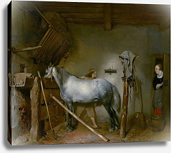Постер Борх Джерард Horse in a Stable, c.1652-54