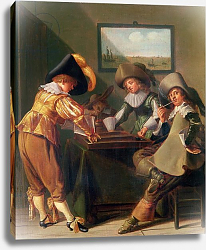 Постер Халс Дирк Backgammon Players, 17th century