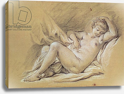 Постер Буше Франсуа (Francois Boucher) Nude Woman on a Bed