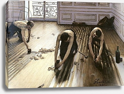 Постер Кайботт Гюстав (Gustave Caillebotte) The Parquet Planers, 1875