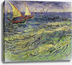 Постер Ван Гог Винсент (Vincent Van Gogh) Seascape at Saintes-Maries 1888