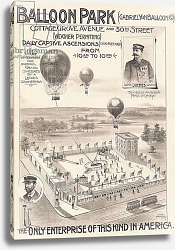 Постер Школа: Американская (19 в) Advertising poster for a Balloon Park in Chicago, USA, c.1888