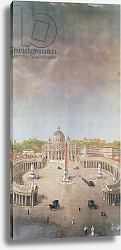 Постер Гарнье Август View of St. Peter's, Rome