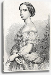 Постер Princess Charlotte of Belgium. Created ny Schubert, published un L'Illustration Journal Universel, P