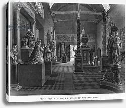 Постер Ваузель Джон First view of the introductory room, Musee des Monuments Francais, Paris, 1816