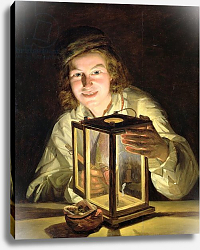 Постер Вальдмюллер Фердинанд The Young Stableboy with a Stable Lamp, 1824