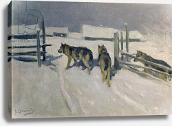 Постер Степанов Алексей Wolfs, Winter Night, c.1910