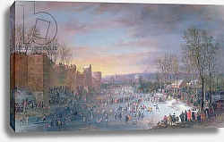 Постер Хоэк Роберт Ice Skating on the Stadtgraben in Brussels, 1649