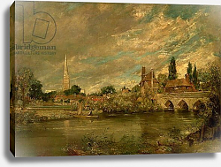 Постер Констебль Джон (John Constable) The Bridge of Harnham and Salisbury Cathedral, c.1820