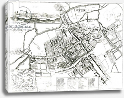 Постер Холлар Вецеслаус (грав) Map of Oxford, 1643
