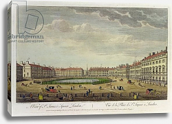 Постер Боулз Томас A View of St. James's Square, London, 1753