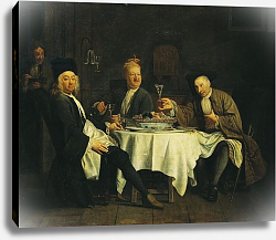 Постер Джюра Этьен The Poet Alexis Piron at the Table with his Friends, Jean Joseph Vade and Charles Colle