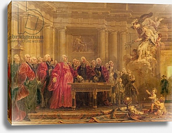 Постер Холл Ноэль The Magistrates of Paris Receiving News of the Peace, 21st June 1763