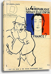 Постер Ирибе Поль Will the 4th Republic still be France? Isn't 3 enough?, from 'Le Temoin', 1933-35