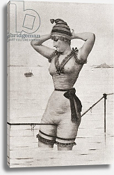 Постер A woman bather in a provocative bathing suit in the late 19th century 1912