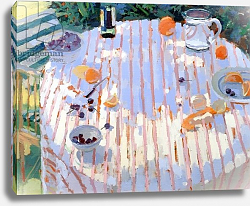 Постер Баттерфилд Сара (совр) In the Garden, Table with Oranges