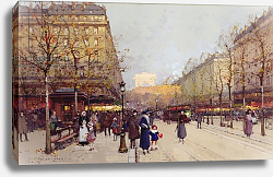 Постер Гальен-Лалу Эжен Les Champs Elysees, Paris