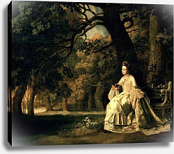 Постер Стаббс Джордж Lady reading in a Park, c.1768-70
