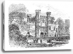 Постер Battle Abbey, Hastings, East Sussex, England vintage engraving