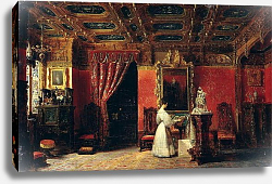 Постер Лафейт Проспер Princess Marie d'Orleans in her Gothic Studio in the Palais des Tuileries, 1836