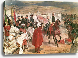 Постер Верне Эмиль Marshal Thomas Bugeaud and Colonel Joseph Vantini During the Conquest of Algeria, 1846