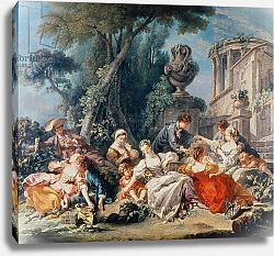 Постер Буше Франсуа (Francois Boucher) Bird Catchers