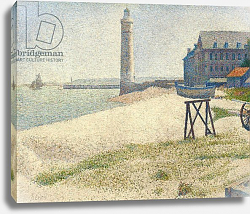 Постер Сера Жорж-Пьер (Georges Seurat) The Lighthouse at Honfleur, 1886