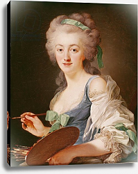Постер Рослин Александр Portrait of Anne Vallayer-Coster, 1783