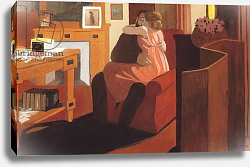 Постер Валлоттон Феликс Intimacy, Couple in an Interior with a Partition, 1898