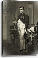 Постер Давид Жак Луи Napoleon I in his study, engraved by Jean Nicholas Laugier
