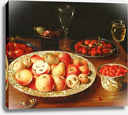 Постер Бирт Осис Still Life with Fruit in Wan-Li Porcelain Bowls