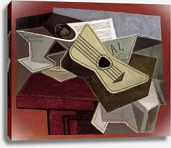 Постер Грис Хуан Guitar and Newspaper, 1925