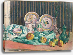 Постер Бернард Эмиль Still life with apples and fruit dishes, c.1906