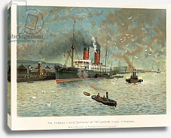 Постер Уилкинсон Чарльз The Cunard liner 'Campania' at the landing stage, Liverpool