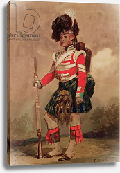 Постер Лами Евген A Soldier of the 79th Highlanders at Chobham Camp in 1853