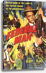 Постер Film Noir Poster - Federal Man